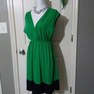 DELIRIOUS GREEN HI-LO DRESS